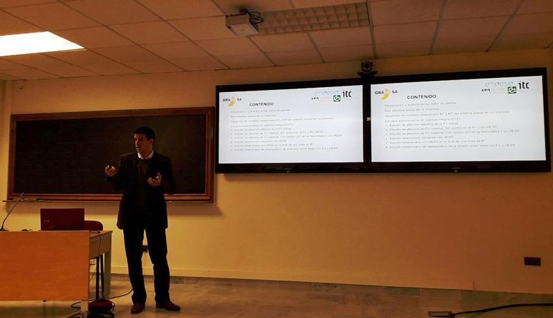 El Proyecto GRACIOSA, expuesto como ejemplo de autosuficiencia energética insular en un seminario en la Universidad de Sevilla